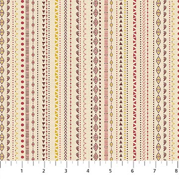 Great Plains Beige Multi Stripe Fabric