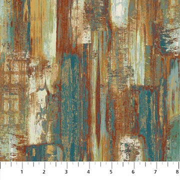 Urban Reflections Teal Multi Swatches Northcott 22950-66