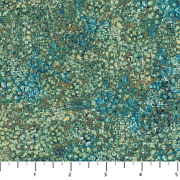 Northcott Reflections Pebbled - Teal/Green/Cream