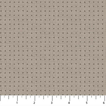 Northcott Cosmo Triangle Grid - Taupe (min order 1m)
