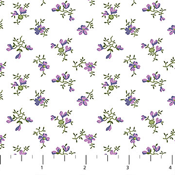 Michel Design Works - Chelsea - White with Small Flowers - 23061-10