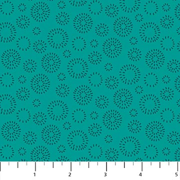 Forest Frolic - Circle Blender, Teal - by Northcott Studio for Northcott