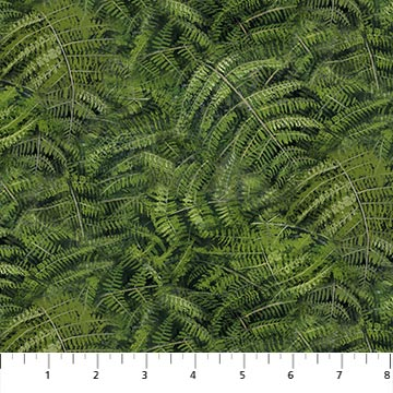 Fabric-Northcott Naturescapes Day Dreams Green