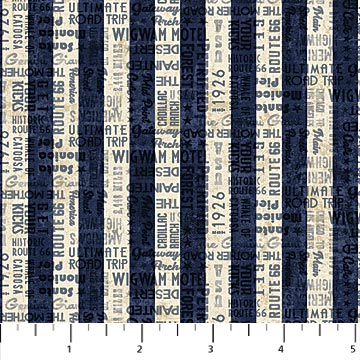 ROUTE 66 23121-49 Navy/Cream Stripe