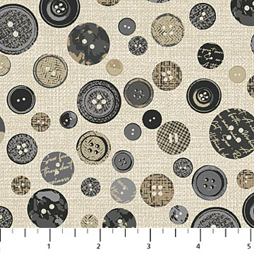 Material Girl - Buttons - Gray Multi - 23218-94