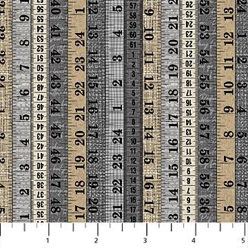 Material Girl Grey Multi - Measuring Tapes