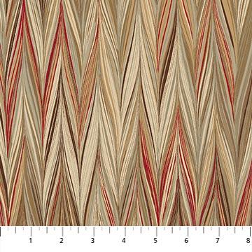 Art of Marbling Zigzag Stripe scarlet feather