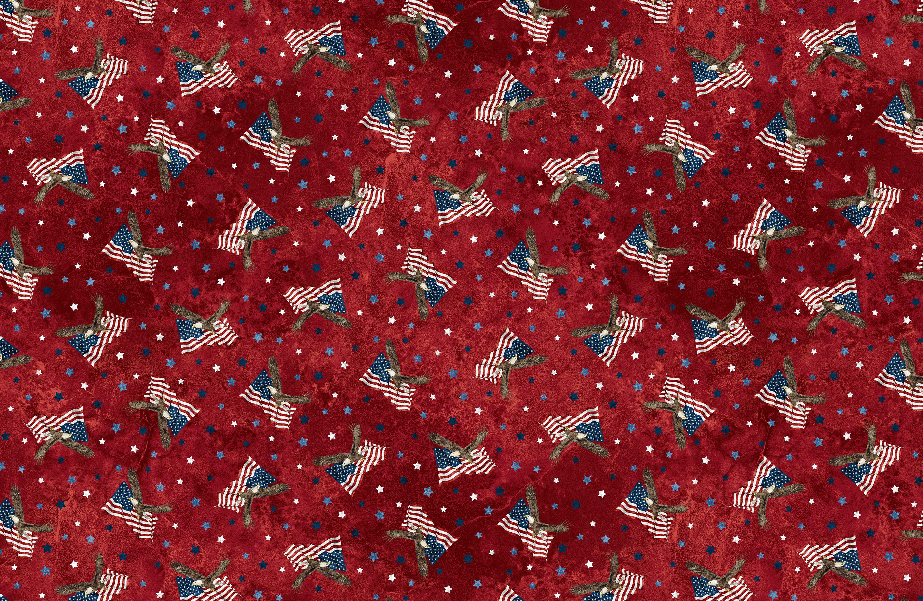 STONEHENGE STARS AND STRIPES 8 RED MULTI 23460-24