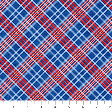 NORTH- POWER PLAY dark blue & red plaid