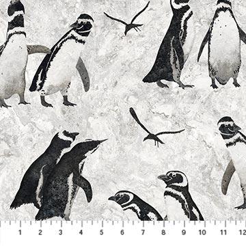 Stonehenge Magdalena Light Gray All Over Penguins