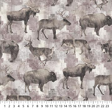 Canyon Creek - Large Animals All Over Cream Multi