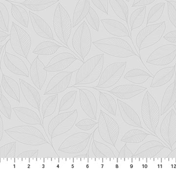 Northcott Simply Neutral 2 Large Leaf Toss - Grey