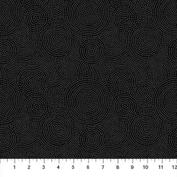 23918-98 Gray/Black Circular Dots Simply Neutral 2 Northcott