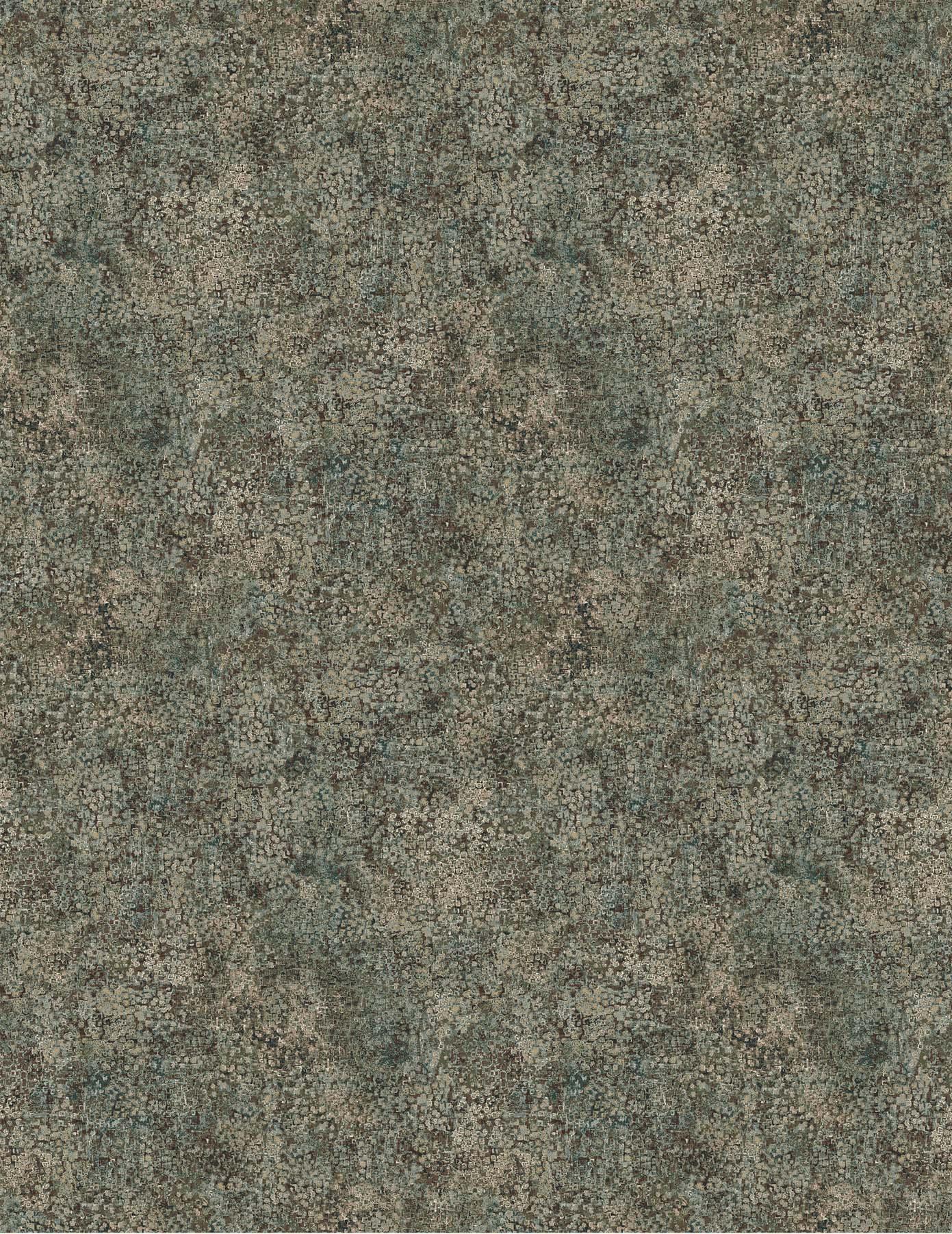 Ophelia by Penelope Duchesne - Calcite Texture - Dark Gray Green