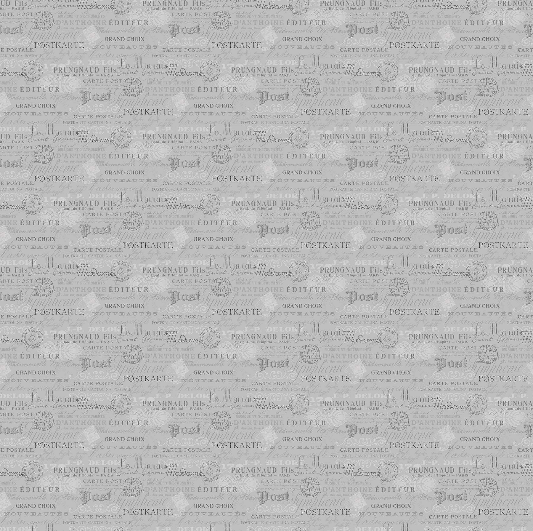 SCENTED GARDEN SCRIPT DARK GRAY 23974-94