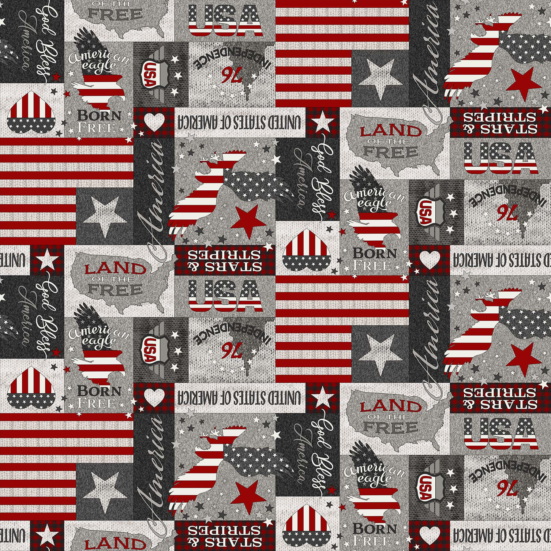 24019-92 My America / Gray Multi