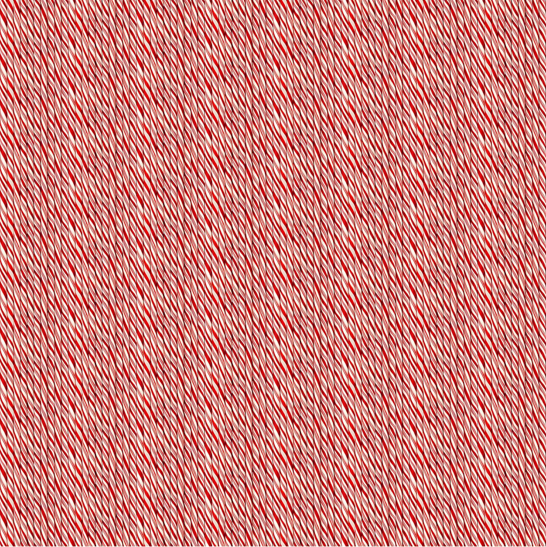 NORTH- Here Come Santa Red/White Candy Cane Stripe