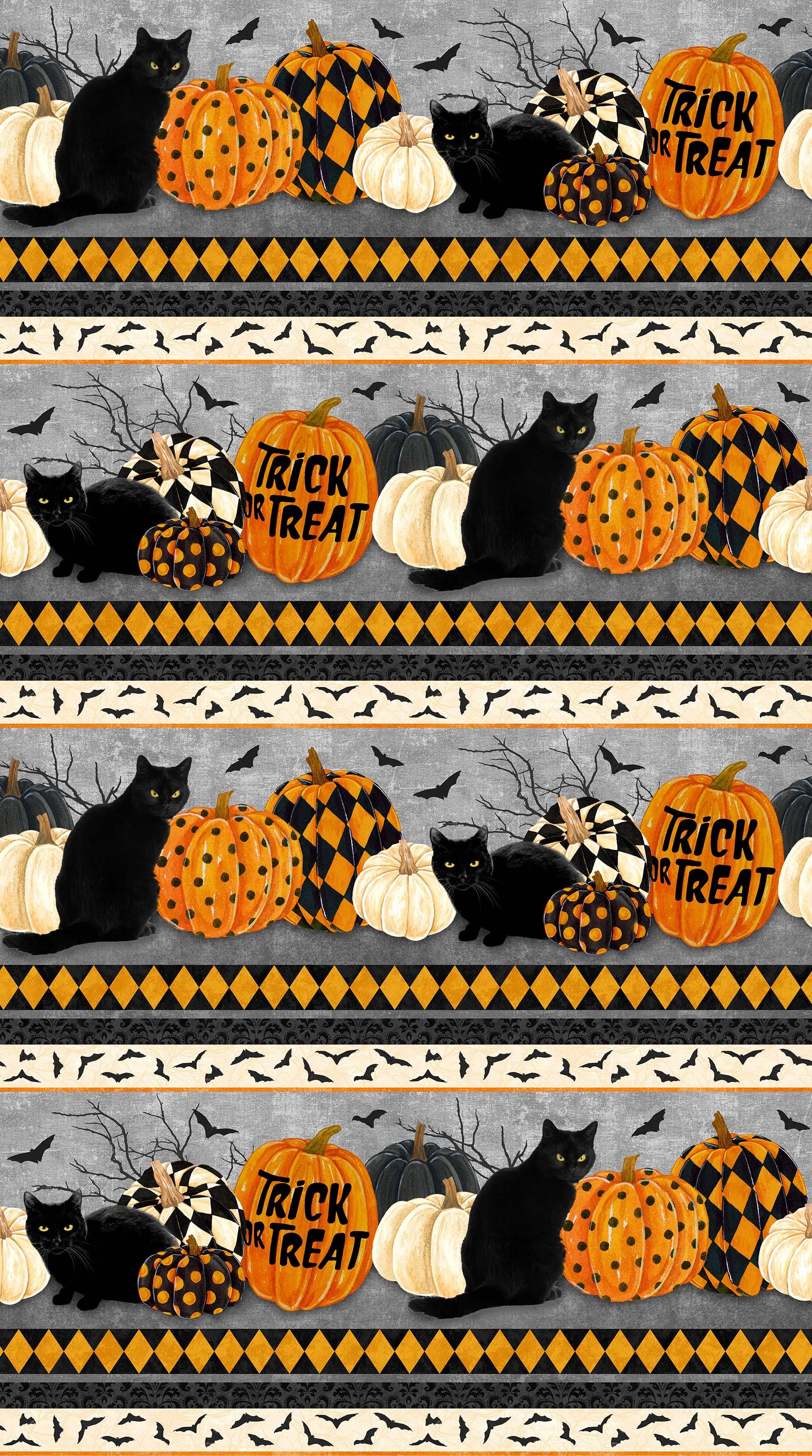 BLACK CAT CAPERS Borders BLACK MULTI