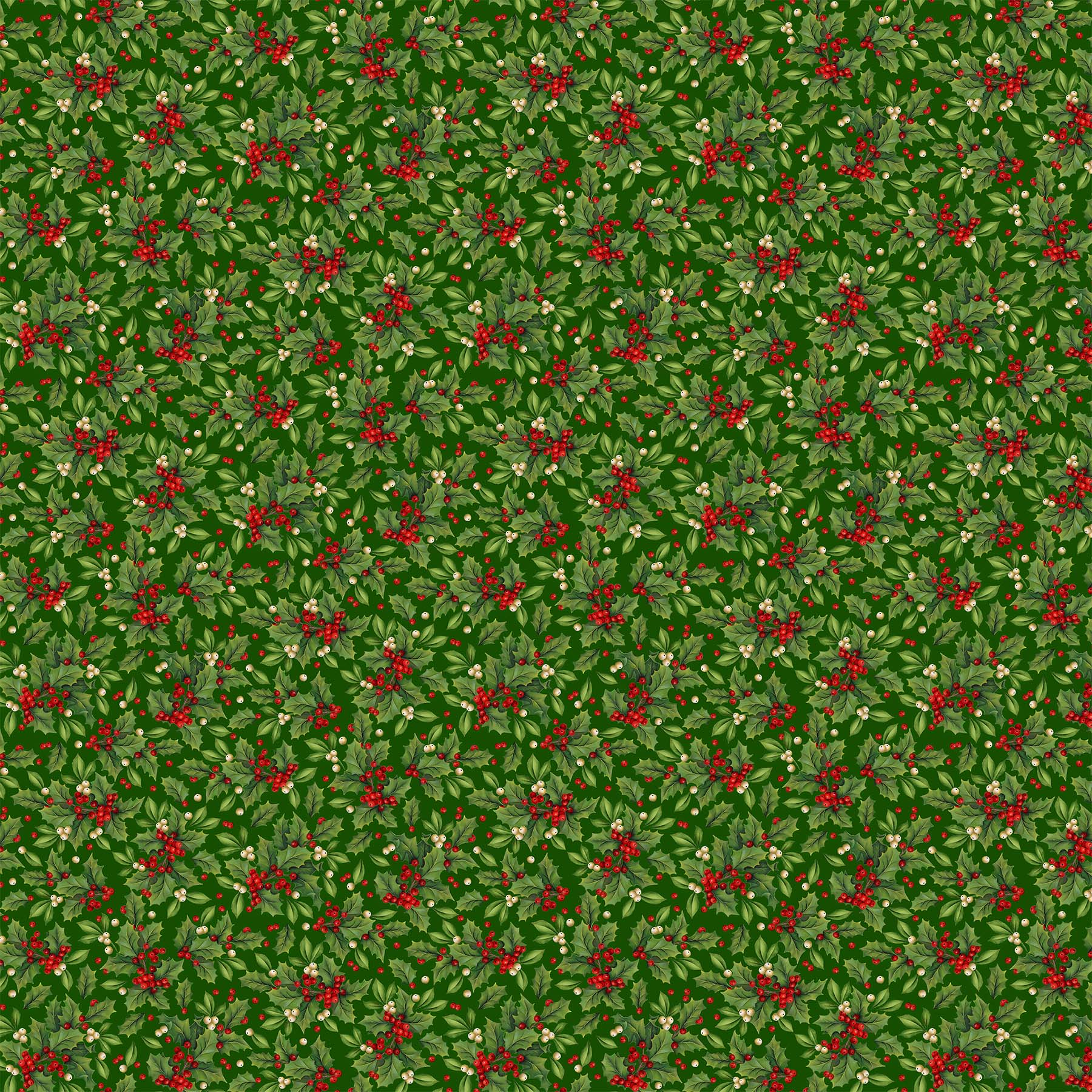 Old Time Christmas Holly 24138 74