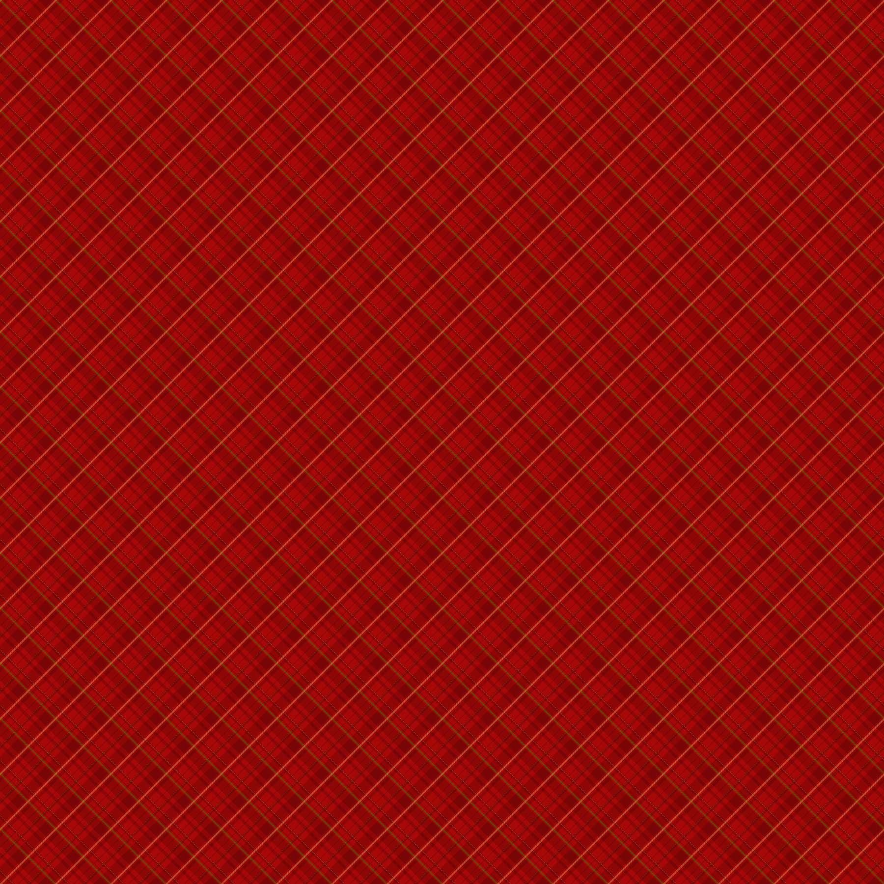 Old Time Christmas Diagonal Plaid Red 24139 24