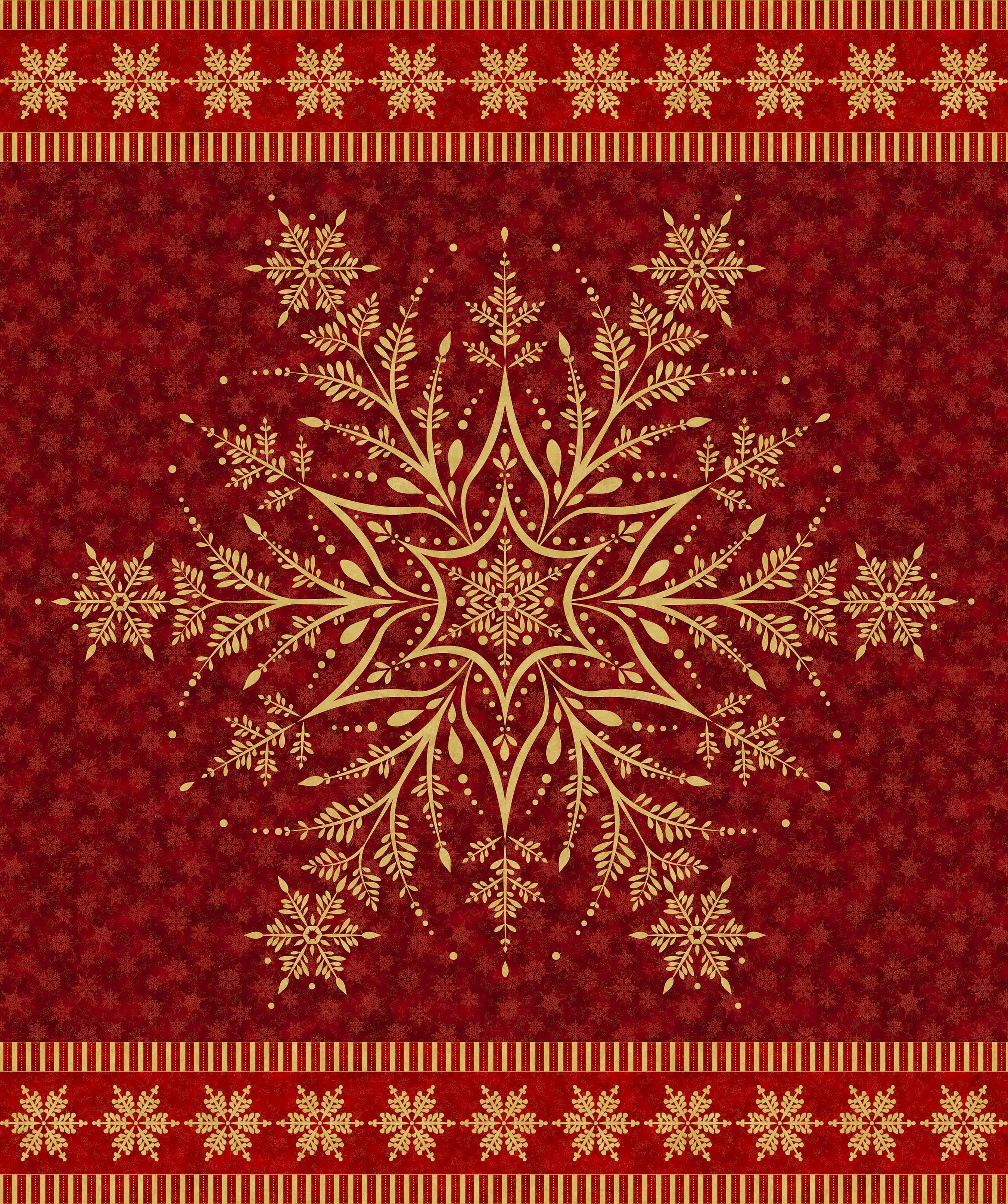 SHIMMER WINTER FROST DARK RED-GOLD PANEL