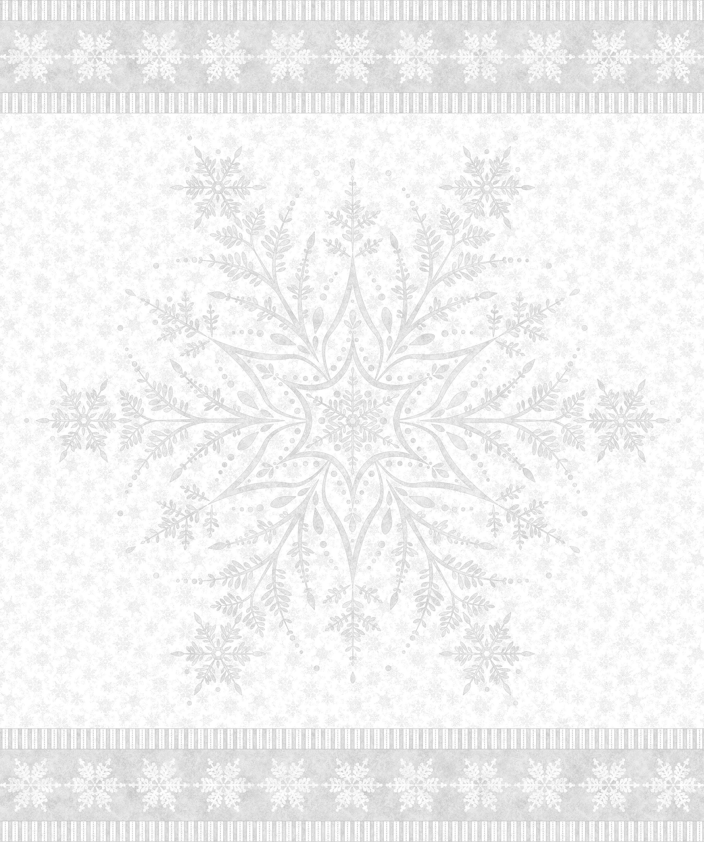 SHIMMER FROST WHITE SILVER SNOWFLAKE PANEL