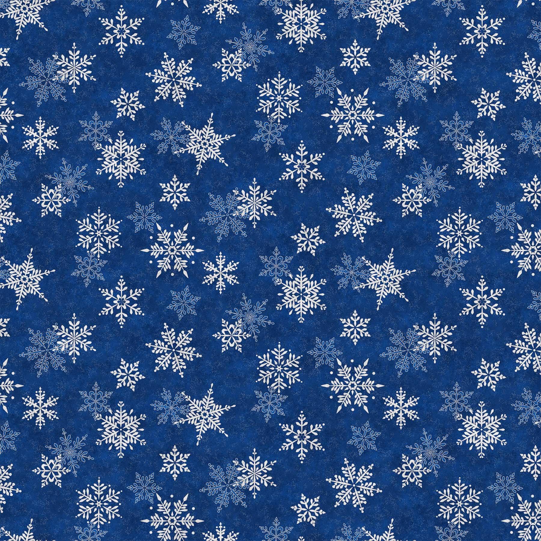 SHIMMER FROST DARK BLUE SILVERLARGE SNOWFLAKE