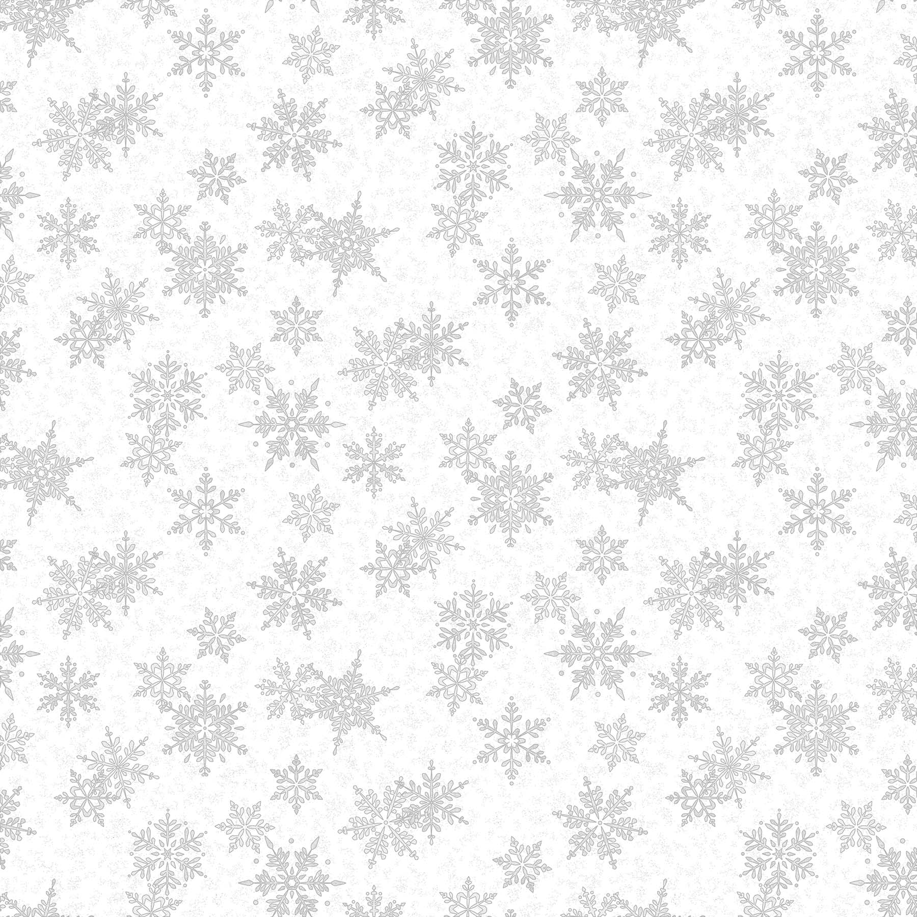 Large Snowflakes White/Silver<br/>Northcott 24195M-90