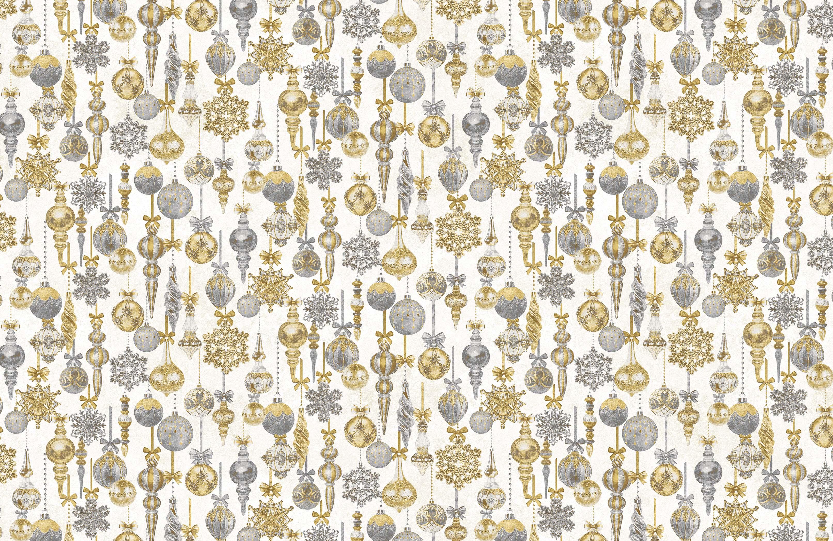 STONEHENGE WHITE CHRISTMAS -  Baubles | Neutral Gold