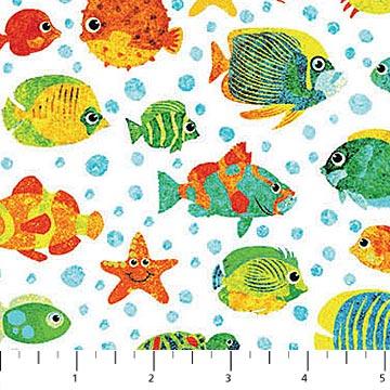 Kids Underseas 3D Fish White