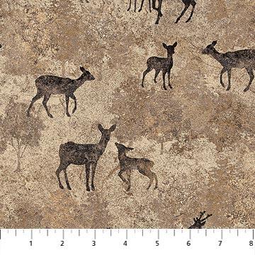 Stonehenge Deerhurst - Deer on Tan Slate -  39425-95