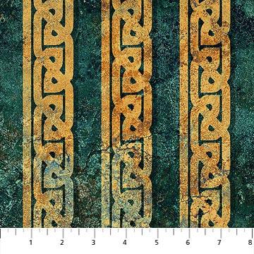 Stonehenge Solstice<br>39430-69 Teal Tile Stripe