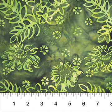 BOHO BEACH DARK GREEN Flowers/Leaves
