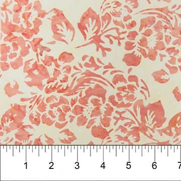 Coral Flowers on Cream:  Boho Beach - Banyan Batiks by Northcott