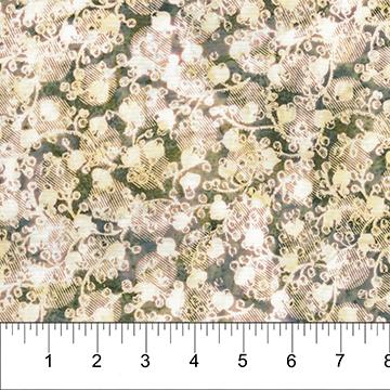 BB- Cherry Blossoms Snow Pine Batik