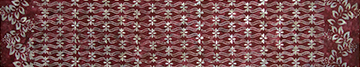 White Cherry Blossoms on Burgundy - Banyan Batiks by Northcott