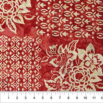 Banyan Batiks Baralla Ruby Red Squares