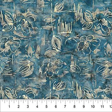 MODERN GEOMETRY 80321-63 BLUE FLOWER