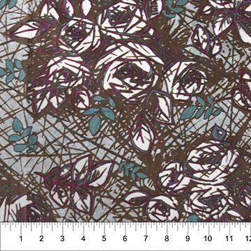 Banyan Batik Rough Sketch Rose - Brown (Batik)