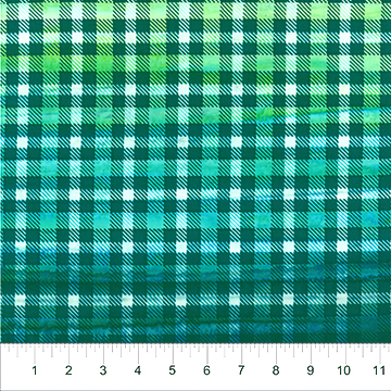 Banyan Batik Quilts & Kilts Plaid - Teal/Green