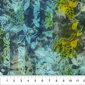Jungle Rose/Turquoise Yellow (Banyan Batiks)