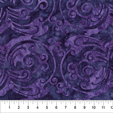 80441-85 Purple Scroll Indigo Ice Cubism Banyan Batiks Northcott