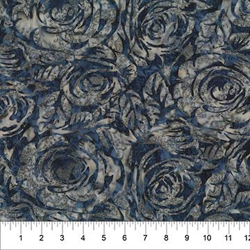 Raindrop on Roses Blue Gray 80471-44