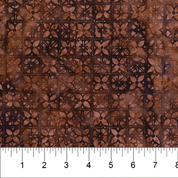 Rust and Dark Purple Cut Glass:  Sazerac - Banyan Batiks by Northcott