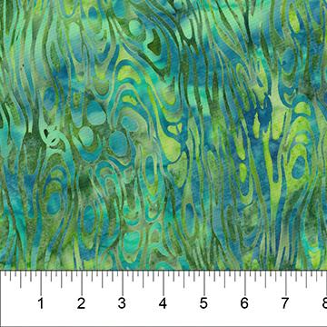 Into the Deep Teal Blue Batik