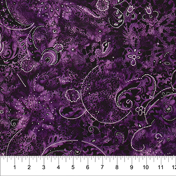 Banyan Lustre Batik - Purple