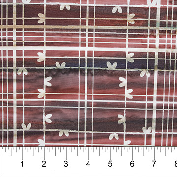 81231-26 Plaid Cotton Batik Brn/Pink