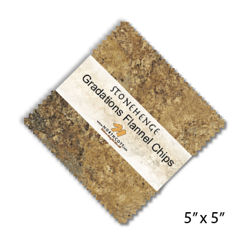 Stonehenge Gradations Flannel Precuts - Tiles and Chips CSTONF42-10
