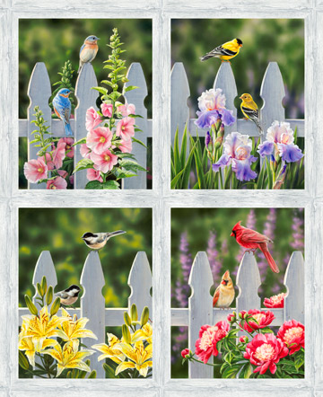 Naturescapes Morning Song<br>36 Bird Panel - DP22748-92