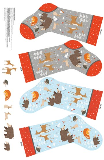 Winterland Stocking Panel DP22795-94